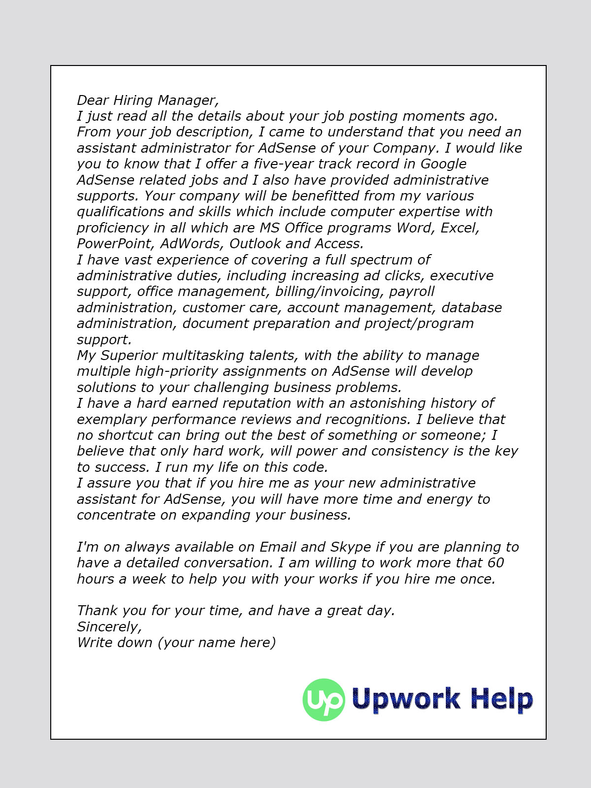 ppc cover letter for upwork