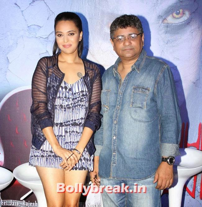 Swara Bhaskar and Debaloy Dey, Swara Bhaskar, Kavita Kaushik at Machhli Jal Ki Rani Hai Trailer Launch