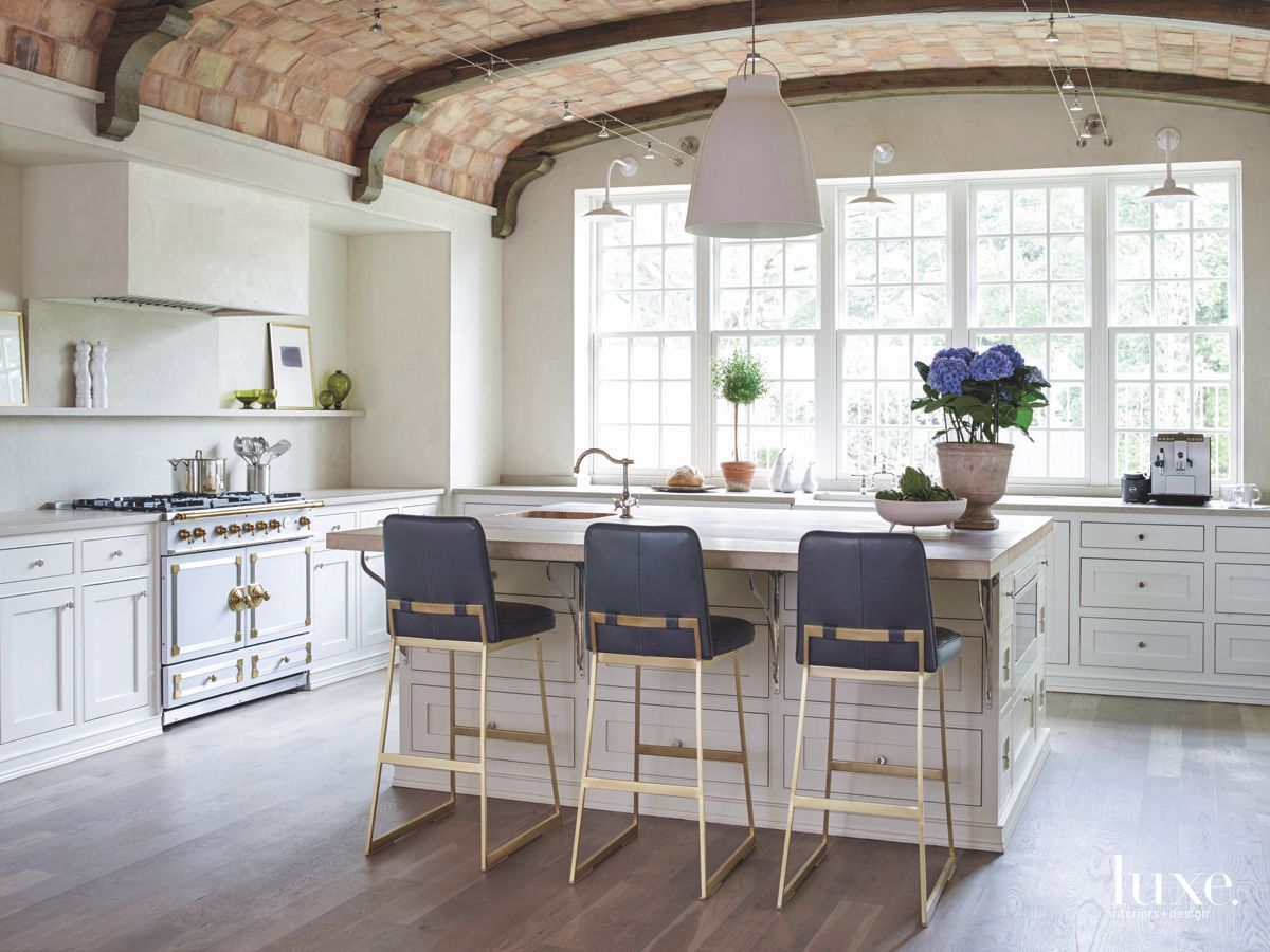 Provence style French chateau kitchen in Houston - found on Hello Lovely Studio