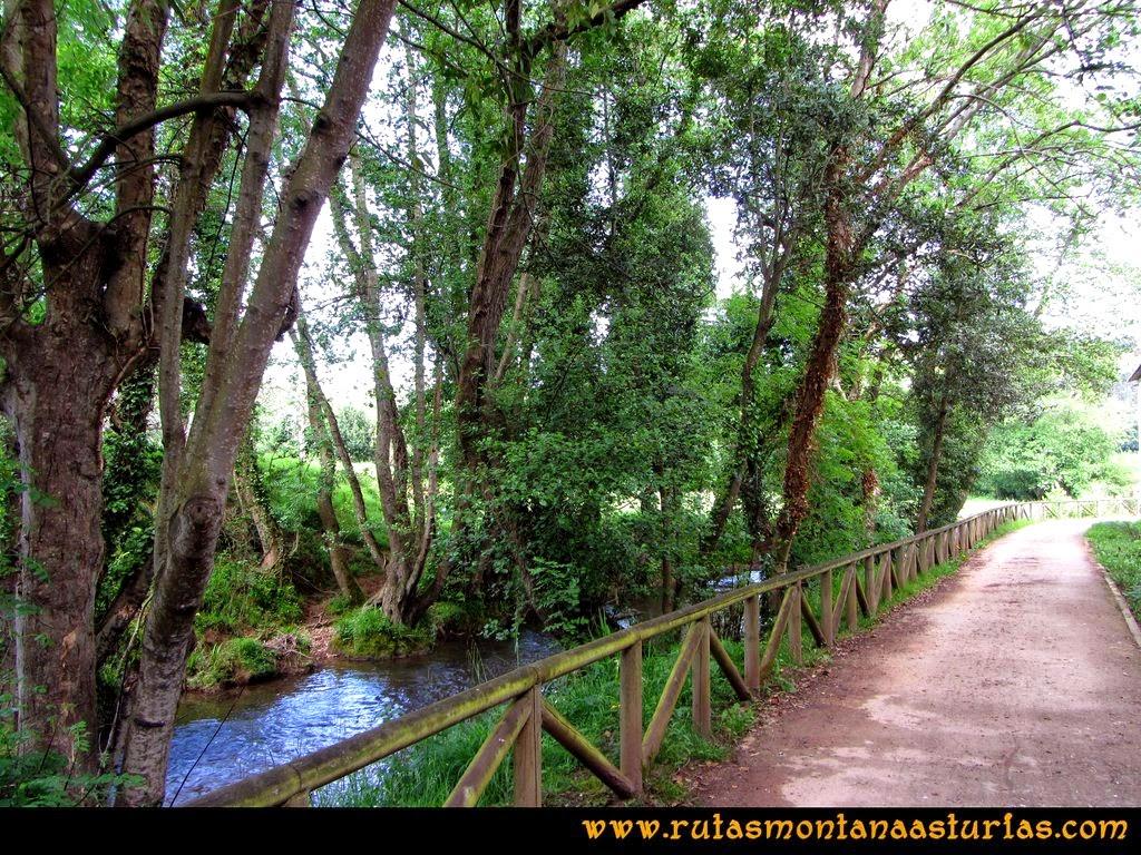 Senda Verde Camocha - Pico Sol - Piles: Senda del Piles, paseo por la orilla