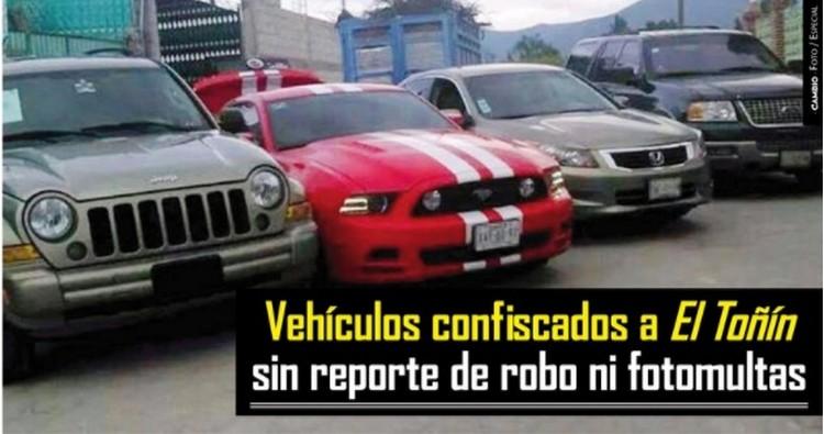 Vehículos de El Toñín no tienen reporte de robo ni fotomultas