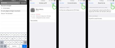 Configuracion de APN WEEX Iphone 2017