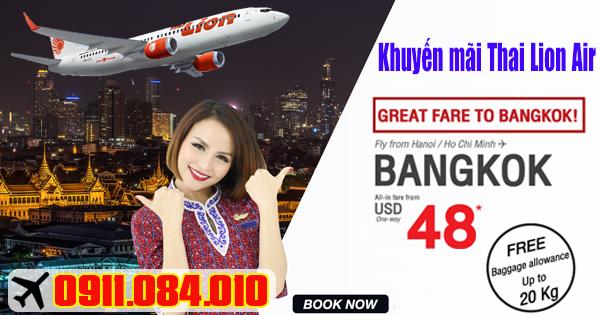 khuyến mãi đi Bangkok hãng Thai Lion Air mới nhất