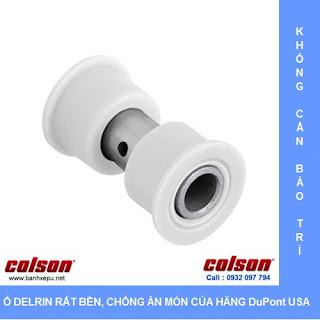 Bánh xe cao su càng bánh xe inox 304 | 2-3356SS-444-BRK4 sử dụng ổ nhựa Delrin