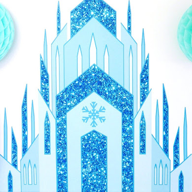 DIY Frozen Inspired Birthday Party Backdrop
