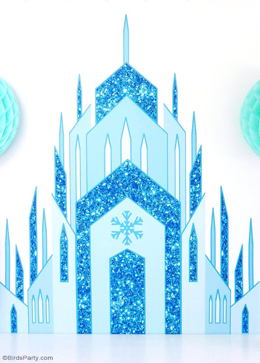 DIY Frozen Inspired Birthday Party Backdrop | Party Ideas | Party Printables