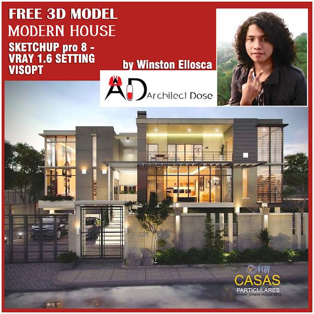 Sketchup Models - Modern House