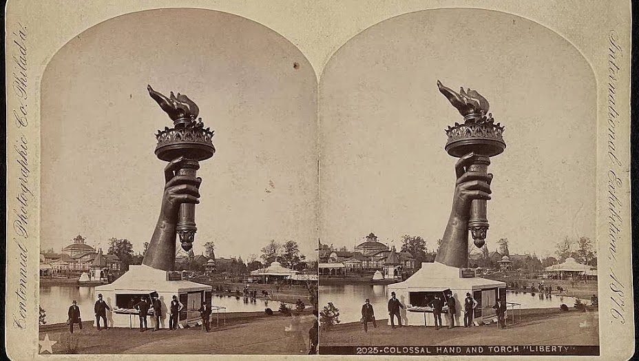 Statue of Liberty torch Philadelphia PA 1876