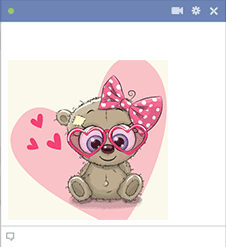 Girl Teddy Bear Emoticon