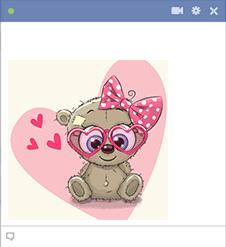 Girl Teddy Bear Emoticon
