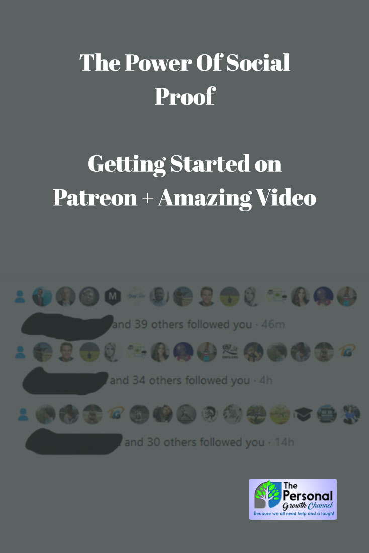 Power of Social Proof Plus Getting Your First Patrons on Patreon - Shows over 100 new Twitter followers in the last 14 hours