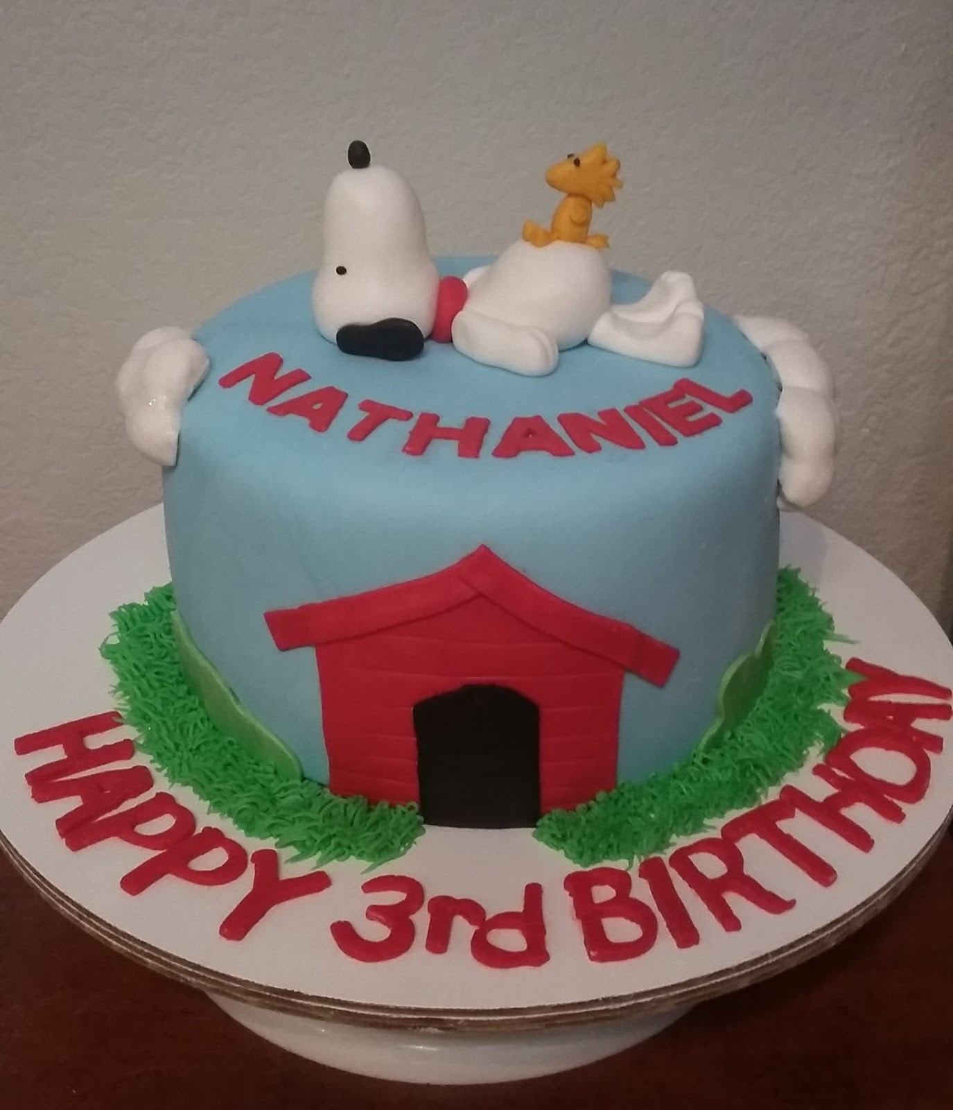 My Cake Hobby Snoopy And Woodstock Cake