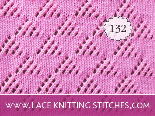 Triangles Knited Lace stitch