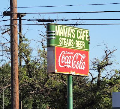 Mama's Cafe - Old-style sign on Westheimer