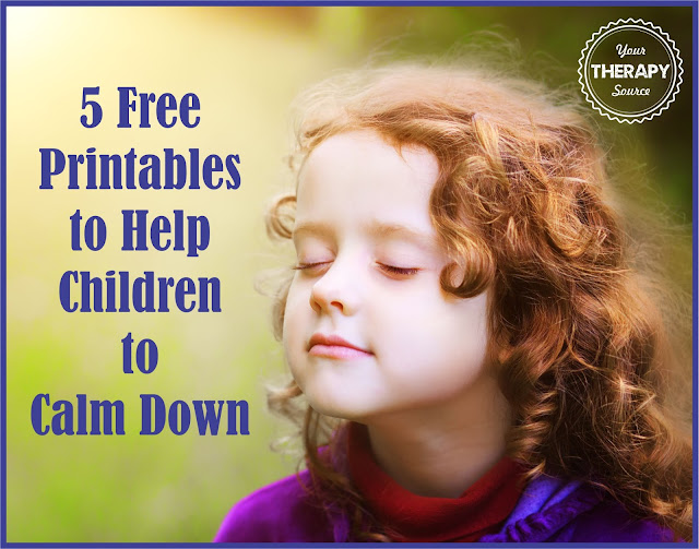 5 Free Printables to Help Children Calm Down - Your Therapy