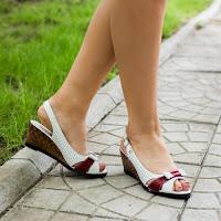 Sandale dama Piele Ruslana rosiu cu alb cu platforma ortopedica (modlet)