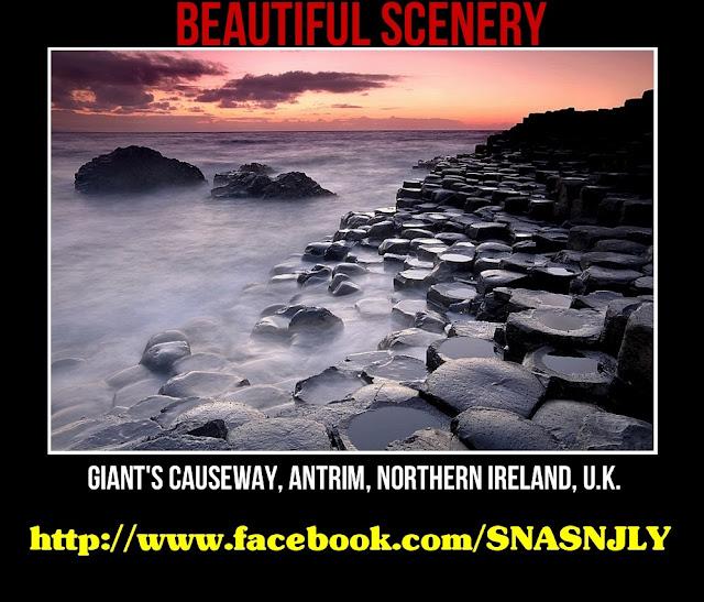 Giant Causeway, Antrim, Northern Ireland, U.K.,Beautiful scenery
