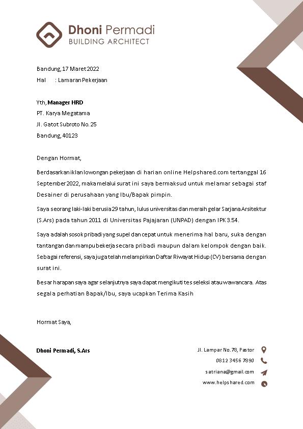 Kop Surat Lamaran Kerja 9
