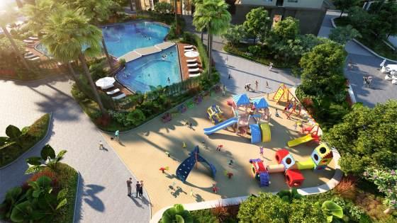 Sân chơi trẻ em, bể bể ngoài trời Roman Plaza