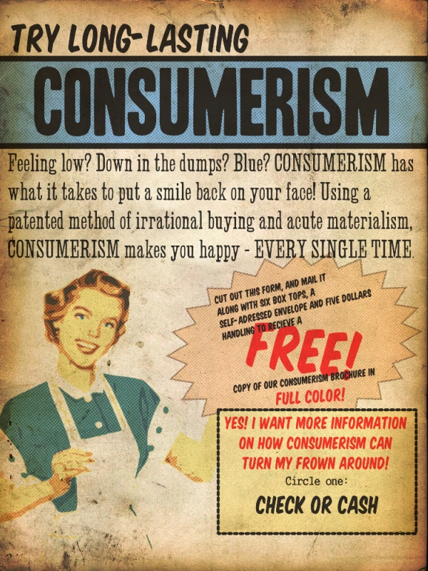 The problem of consumerism in american society