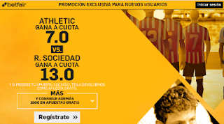 betfair supercuota Athletic o Real Sociedad ganan Liga 16-10