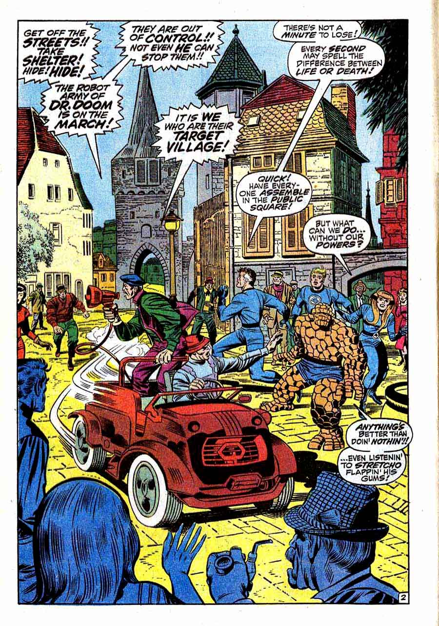 Fantastc Four v1 #86 marvel 1960s silver age comic book page art by Jack Kirby