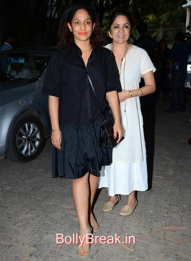 Neena Gupta, Masaba., Anushka Sharma Hot Pics At Bombay Velvet screening