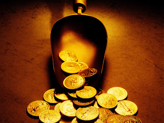 Awesome Gold Coins HD Stock Photo Wallpaper