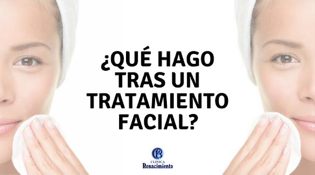 Consejos tras un tratamiento facial