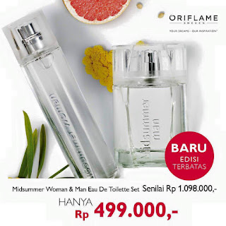 Parfum Couple Oriflame MIDSUMMER MAN DAN MIDSUMMER WOMAN