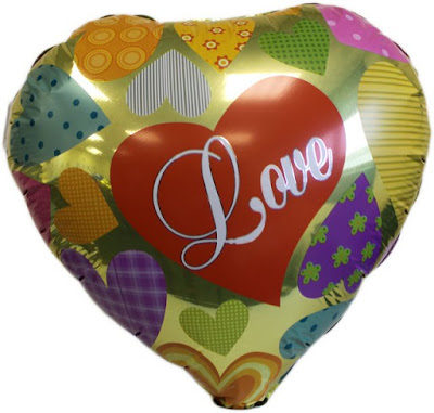 Balon Foil Hati Motif I LOVE YOU