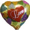 Balon Foil Hati Motif I LOVE YOU / Balon Foil I LOVE YOU (02)