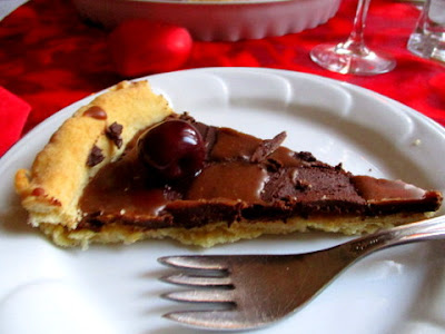 sós karamellás  csokoládés tarte