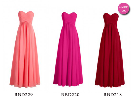 Sweetheart Strapless  Long Bridesmaid Dress