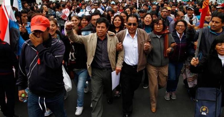 Bases de distintas regiones lideradas por Pedro Castillo paralizarán clases el 5 de abril
