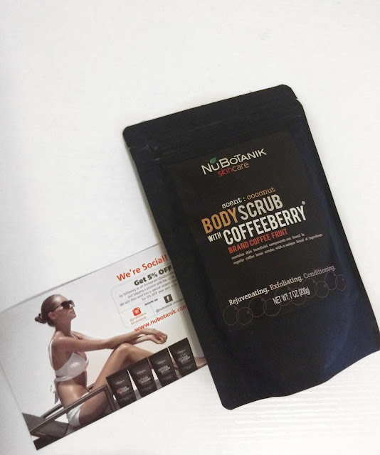 NuBotanik Skin Care Body Scrub Coffeeberry review: prevent dry skin in the winter