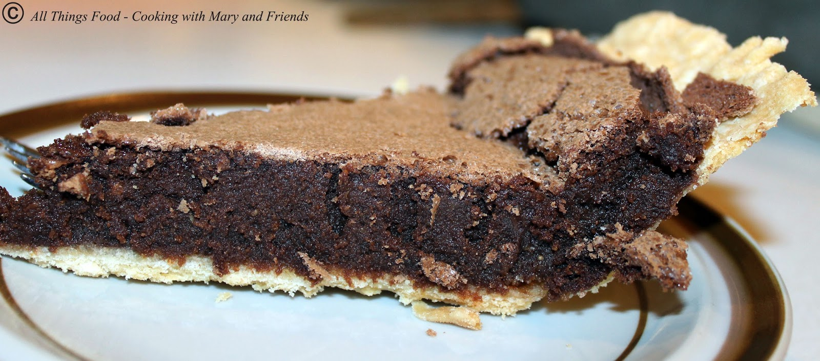 Chocolate Chess Pie Without Eggs