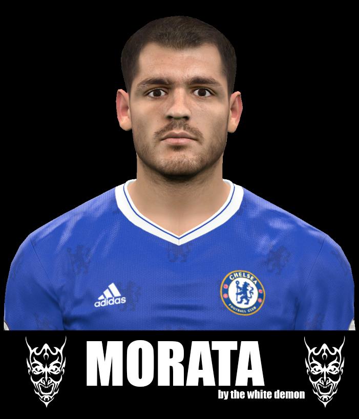 PES 2017 Alvaro Morata Face By The White Demon