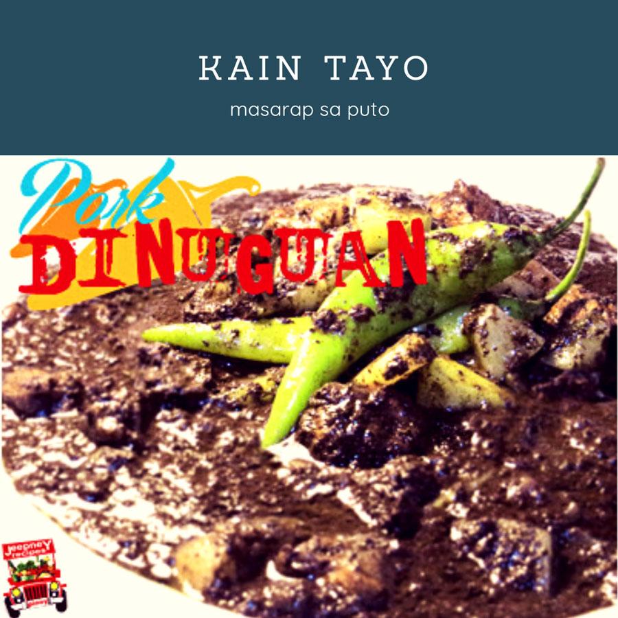 pork dinuguan with sayote www.jeepneyrecipes.com