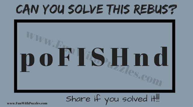 Rebus Picture Puzzle