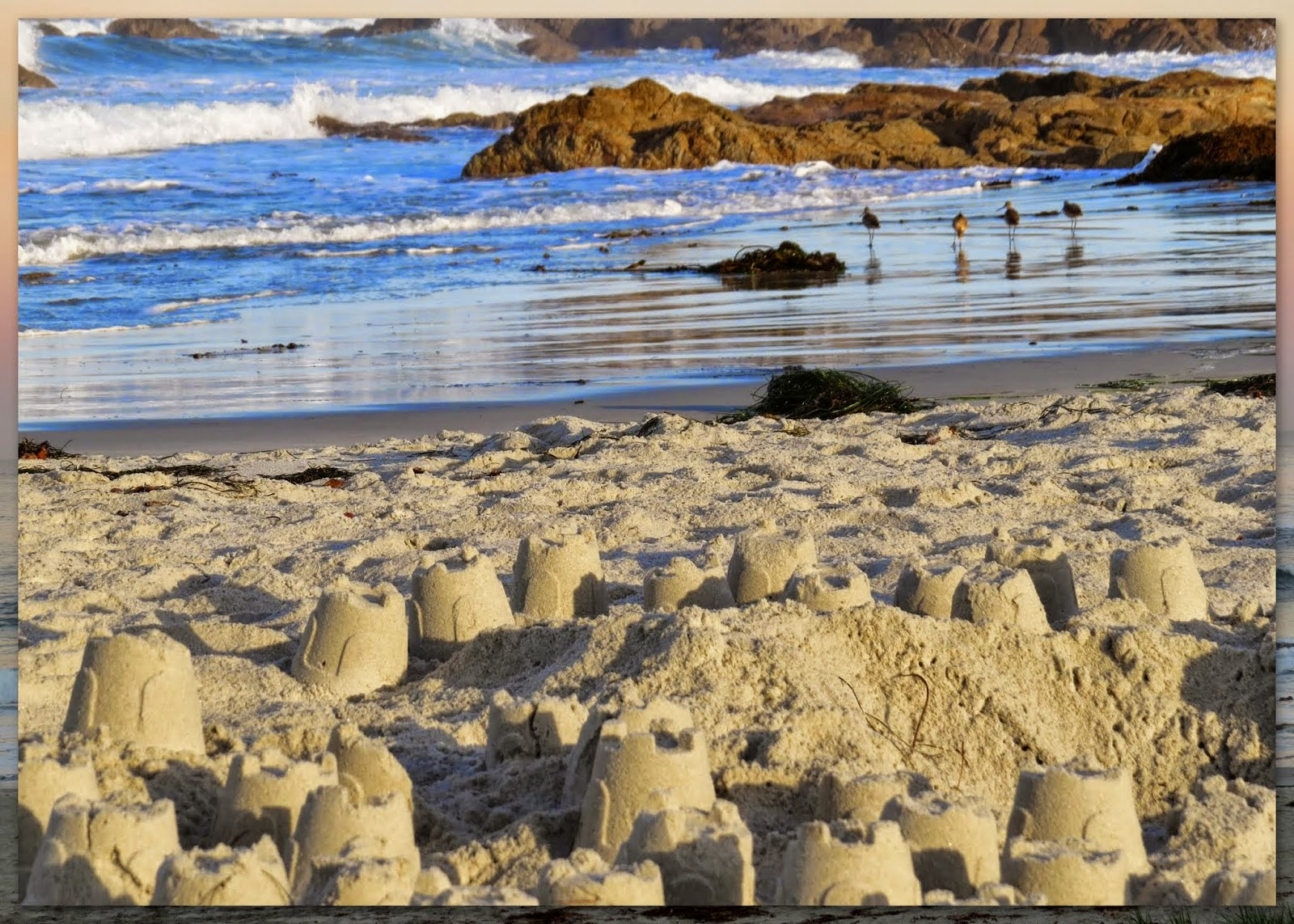 Sandcastles on the beach