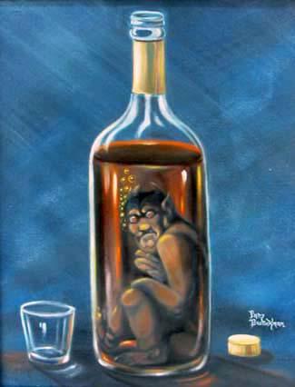 Resultado de imagem para diabo na garrafa