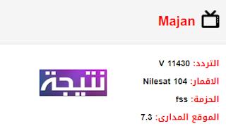 تردد قناة مجان العمانية Majan الجديد 2018 على النايل سات