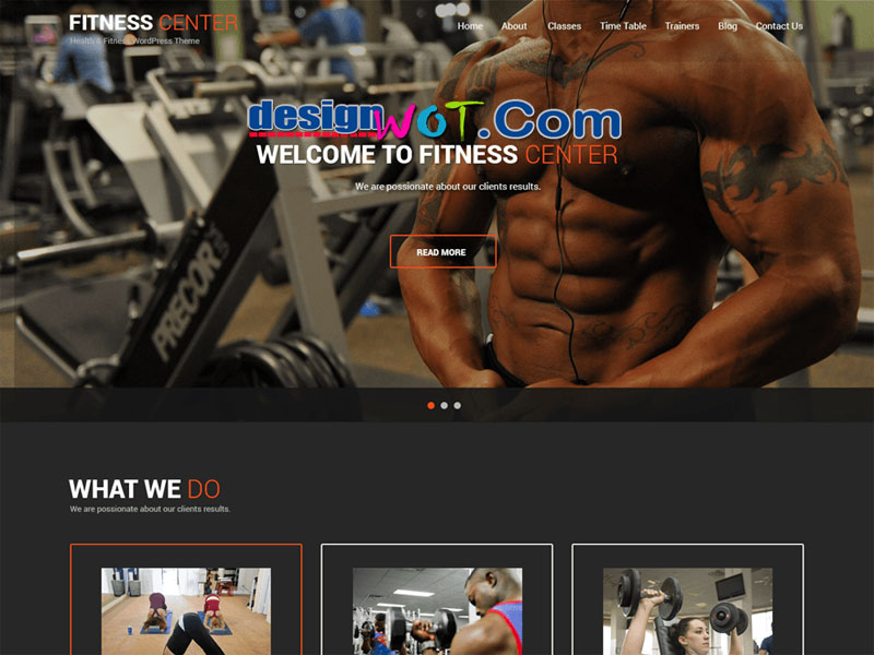 SKT responsive fitness WordPress theme