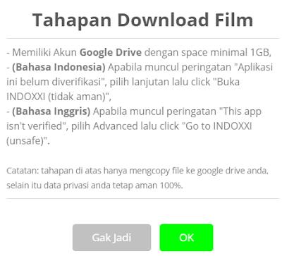 Popup download IndoXXI