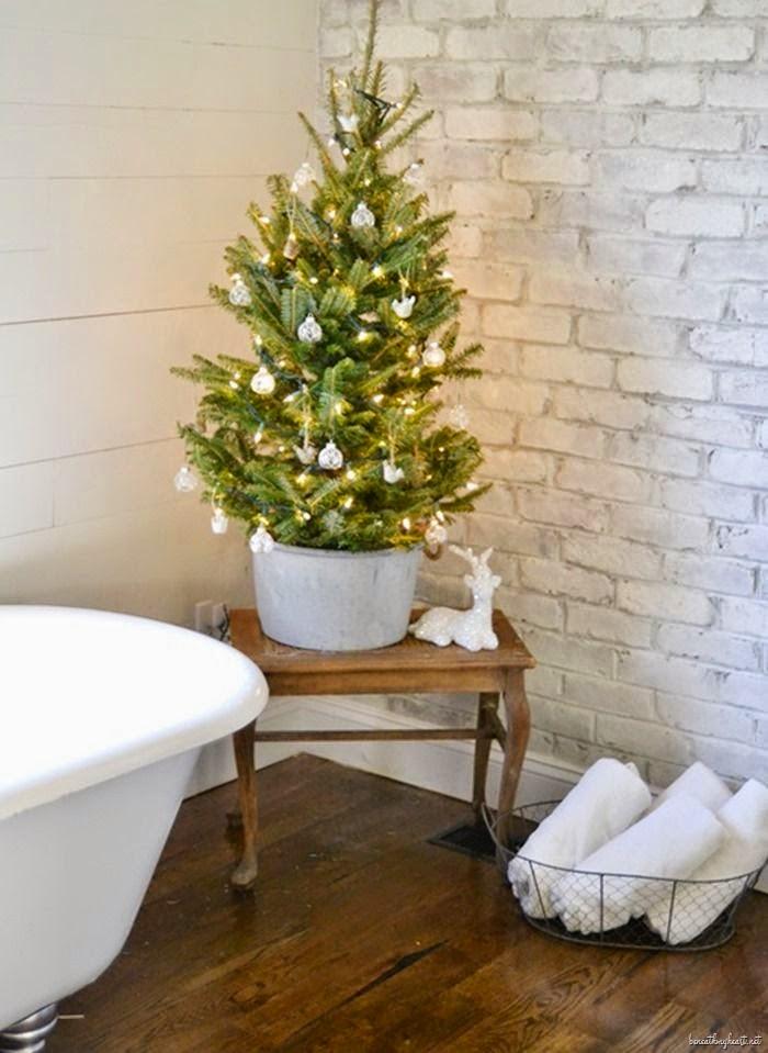 Baño decorado navidad