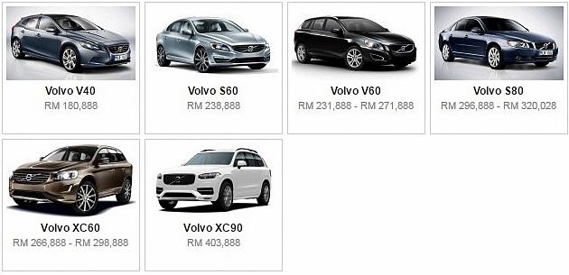 Senarai Harga Terkini Kenderaan Volvo Baru Di Malaysia