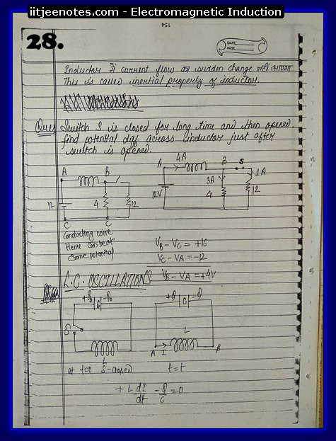 Electromagnetic Induction Notes cbse4