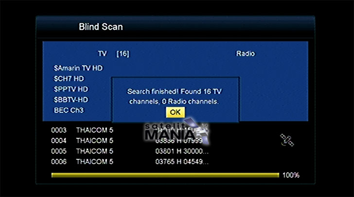cara tracking thaicom 5 c band dengan dish pay tv