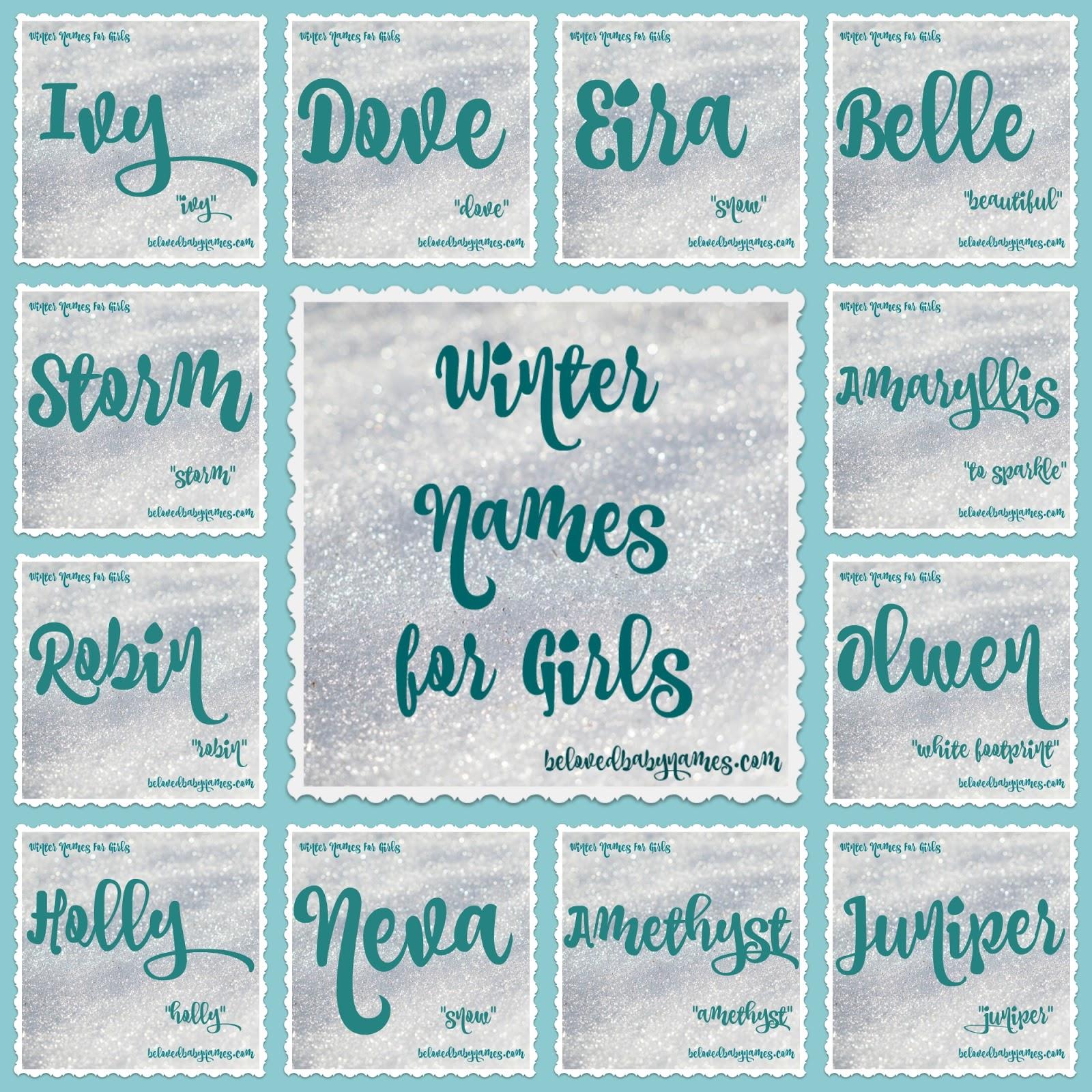 51974f059 Beloved Baby Names  Wonderful Winter Names For Girls